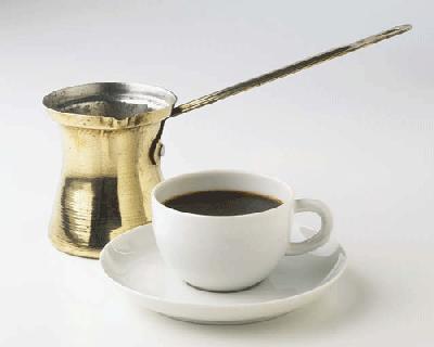 Приготовление кофе в турке