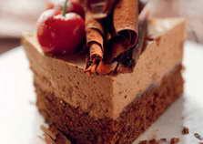 Миндальный торт с шоколадным муссом