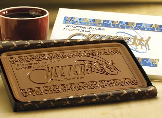 Оригинальные бизнес подарки - шоколад с логотипом вашей компании