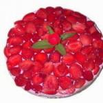 Фоторецепт Творожный ягодный чизкейк без выпечки