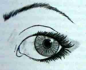 нанесение теней, если глаза навыкате