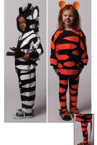 новогодний костюм тигра и зебры