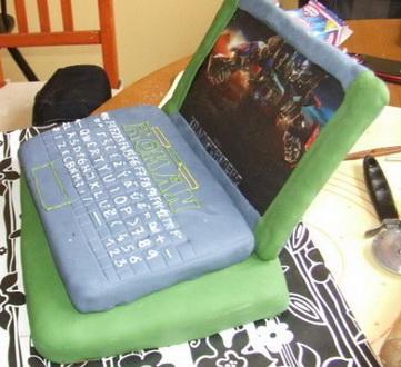 ноутбук торт из мастики фото