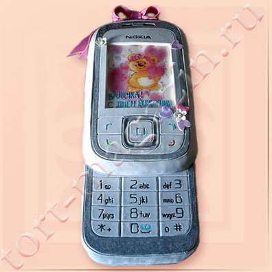сотовые телефоны из сахарной мастики